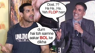 Download John Abraham's BEST Reply To Akshay Kumar's INSULT On On Gold CLASH With Satyamev Jayate On 15th Aug Video