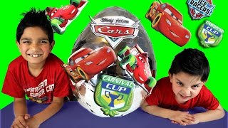 Download Disney Cars Mcqueen Carnival Cup Big Silver Surprise Egg Video By Hitzh Toys Video