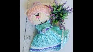 Download вязание,вязание платья,мастер-класс платья, платье вязаное крючком для зайки часть 1 Video