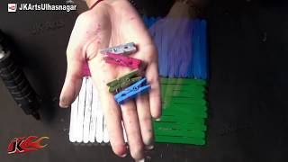 Download Easy Craft with Popsicle Stick/ Ice cream Sticks | Photo Frame | JK Arts 681 Video