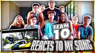Download TEAM 10 FINALLY REACTS TO MY MUSIC VIDEO Video