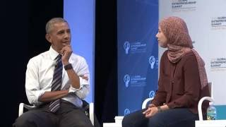 Download Mai Medhat with President Barack Obama and Mark Zuckerberg Video