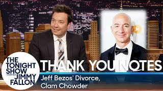 Download Thank You Notes: Jeff Bezos' Divorce, Clam Chowder Video