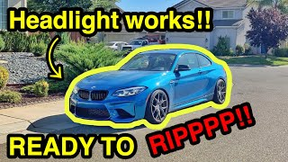 Download Finally Getting My CHEAP SALVAGE BMW M2 Assembled and Headlight Programmed through TEAMVIEWER! Video