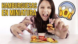Download Probando las HAMBURGUESAS MÁS PEQUEÑAS DEL MUNDO Video