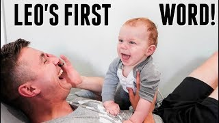 Download Baby Leo Says His FIRST WORD! Most Precious Moment EVER! Video