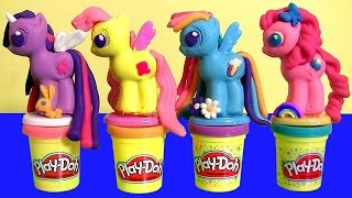 Download Play Doh My Little Pony Make 'N Style Ponies with Twilight Sparkle, Rainbow Dash, Pinkie Pie Video