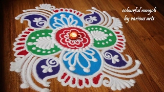Download Simple and easy rangoli Designs - Freehand rangoli designs with colours Video
