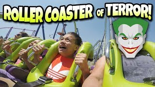 Download 1st TIME ON A GIANT LOOPING ROLLER COASTER!!! Six Flags Discovery Kingdom - The Joker & Medusa! Video