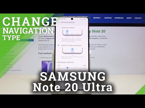 How to Change Navigation Bar in SAMSUNG Galaxy Note 20 – Find Navigation Button Options