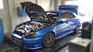 Download INSANE Subaru Impreza STi 2.1L Stroker on the DYNO!! - 805HP @ 29psi BOOST!! Video