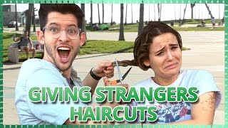 Download Cutting Strangers Hair Challenge | Do It For The Dough w/ Ayydubs and Hunter March Video