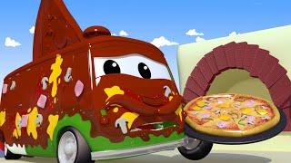 Download A lavagem de carros de Tom - Carlo, o pizzaiolo - O Caminhão de Reboque 🛀 Desenhos animados Video