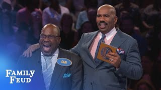 Download BEHIND-THE-SCENES of the PATTERSONS' CRAZY Fast Money!!!   Family Feud Video