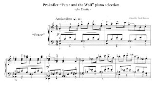 Download Prokofiev ″Peter and the Wolf″ PIANO selection + FREE SHEET MUSIC Video