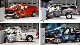 Download Crash Tests 2016 Pickup Truck - F-150, Silverado, Tundra, Ram Video