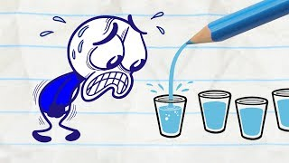 Download Pencilmate Gets All Wet -in- WATER ELSE? Pencilmation Compilation for Kids Video