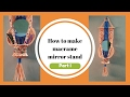 Download How to make Macrame mirror stand wallpiece | Part 1 Video