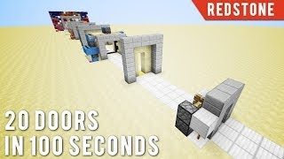 Download Minecraft: 20 Doors In 100 Seconds Video