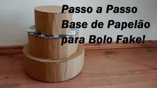 Download COMO FAZER BASE PARA BOLO FAKE de Papelão | Carla Oliveira Video