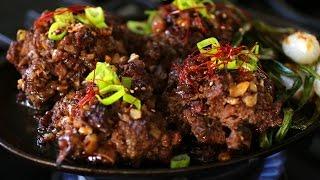 Download Minced, Seasoned, & Grilled Beef Ribs (Tteokgalbi : 떡갈비) Video