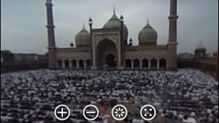 Download 360-Degree View Of Thousands Offering Prayers At Delhi's Jama Masjid On Bakrid Video