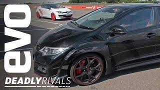 Download Renaultsport Megane 275 Trophy-R vs Honda Civic Type R   evo DEADLY RIVALS Video