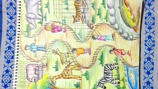 Download How to draw zoo - Step by step drawing of zoo animals Video