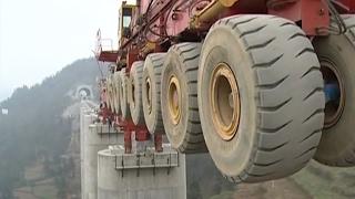 Download The biggest bridge construction machine, Heavy construction equipment world Video