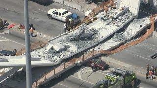 Download Bridge Collapses In Florida | 56,007 US Bridges Are 'Structurally Deficient' Video