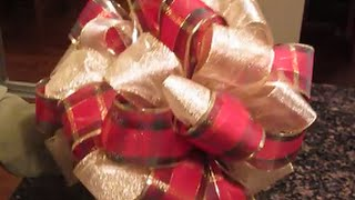 Download Christmas Tree Bow Topper For 4 To 5 Foot Trees Video