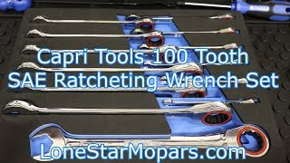 Download Capri Tools 100 Tooth SAE 13 Piece Ratcheting Wrench Set Video