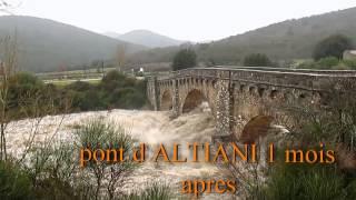 Download pont d ALTIANI en crue et pont dans la RESTONICA détruit !!! Video