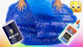 Download How To Make Slime with Glue, Water and Salt only! GIANT slime without borax or liquid starch! Easy! Video