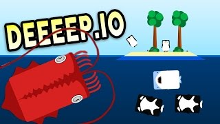 Download THE UNSTOPPABLE GIANT SQUID! - Deeeep.io Gameplay Video
