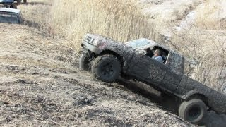 Download Red Toyota Pickup Mudding At Oakville Mud Bog Video