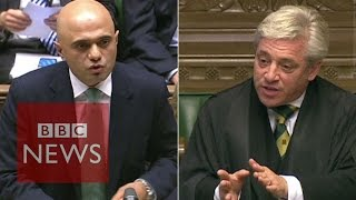 Download Speaker John Bercow accuses Sajid Javid of 'incompetence' - BBC News Video
