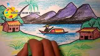 Download Vẽ tranh phong cảnh/How to Draw Landscape Video