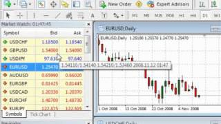 Download Tutorial 1 - MetaTrader 4 Tips and Tricks Video