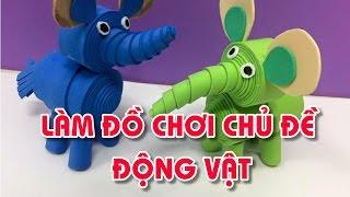 Download Làm đồ chơi chủ đề Động vật cho bé |Đồ dùng sáng tạo| LỚP HỌC MẦM NON Video