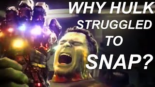 Download Why Tony Snapped So Easily But Hulk Struggled ? Video
