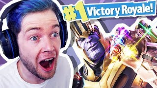 Download DANTDM REACTS TO THANOS IN FORTNITE!!! Video