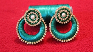 Download Simple and Beautiful Silk thread earrings/Chandbali Silk Thread Earrings Video