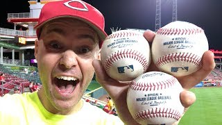 Download Snagging THREE HOME RUN BALLS at Great American Ball Park!!! Video