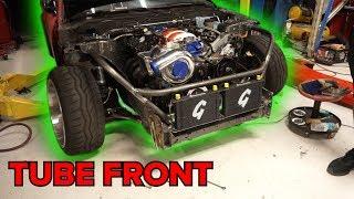 Download Drift HQ Tube Front End 240sx (FD Build Part 7) Video