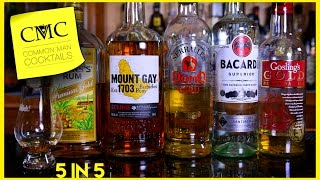 Download ⏰ 5 Rum Reviews in 5 Minutes: Gosling's, Bacardi, Don Q, Mount Gay & Myers's Video
