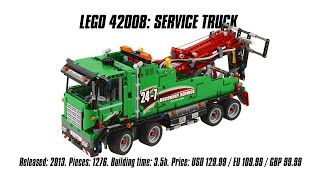 Download 'Lego Technic 42008: Service Truck' Unboxing, Speed Build & Review | Sariel's LEGO Technic Den Video