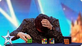 Download Watch Flavian solve three Rubik's Cubes…BLINDFOLDED! | Britain's Got More Talent 2016 Video