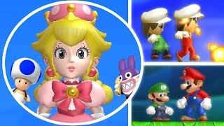Download New Super Mario Bros. U Deluxe All Characters Unlocked - Blue Toad Peachette & More Video