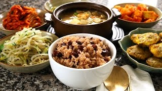 Download Korean red bean rice and side dishes (팥밥) Video